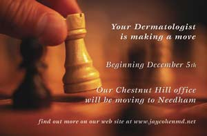 Direct mail postcard - moving dermatology office